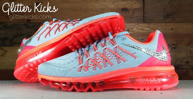 Nike Air Rouge Et Noir Max 360 Avec Des Cristaux Swarovski