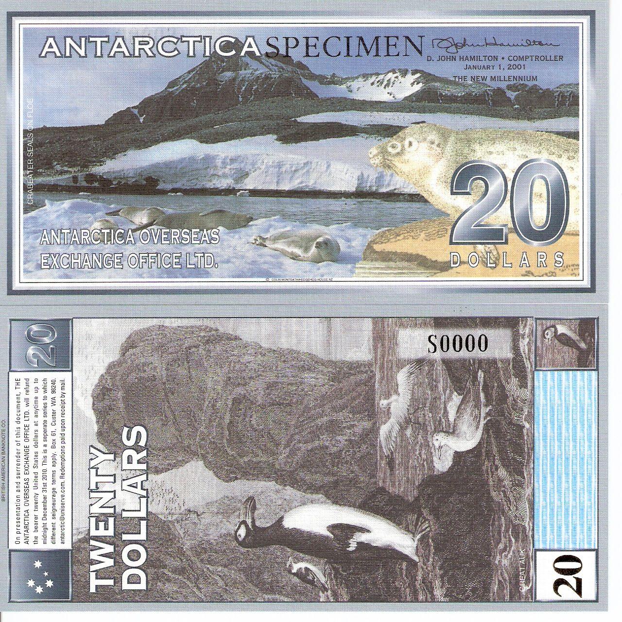Antarctica Dollars Banknotes Notas