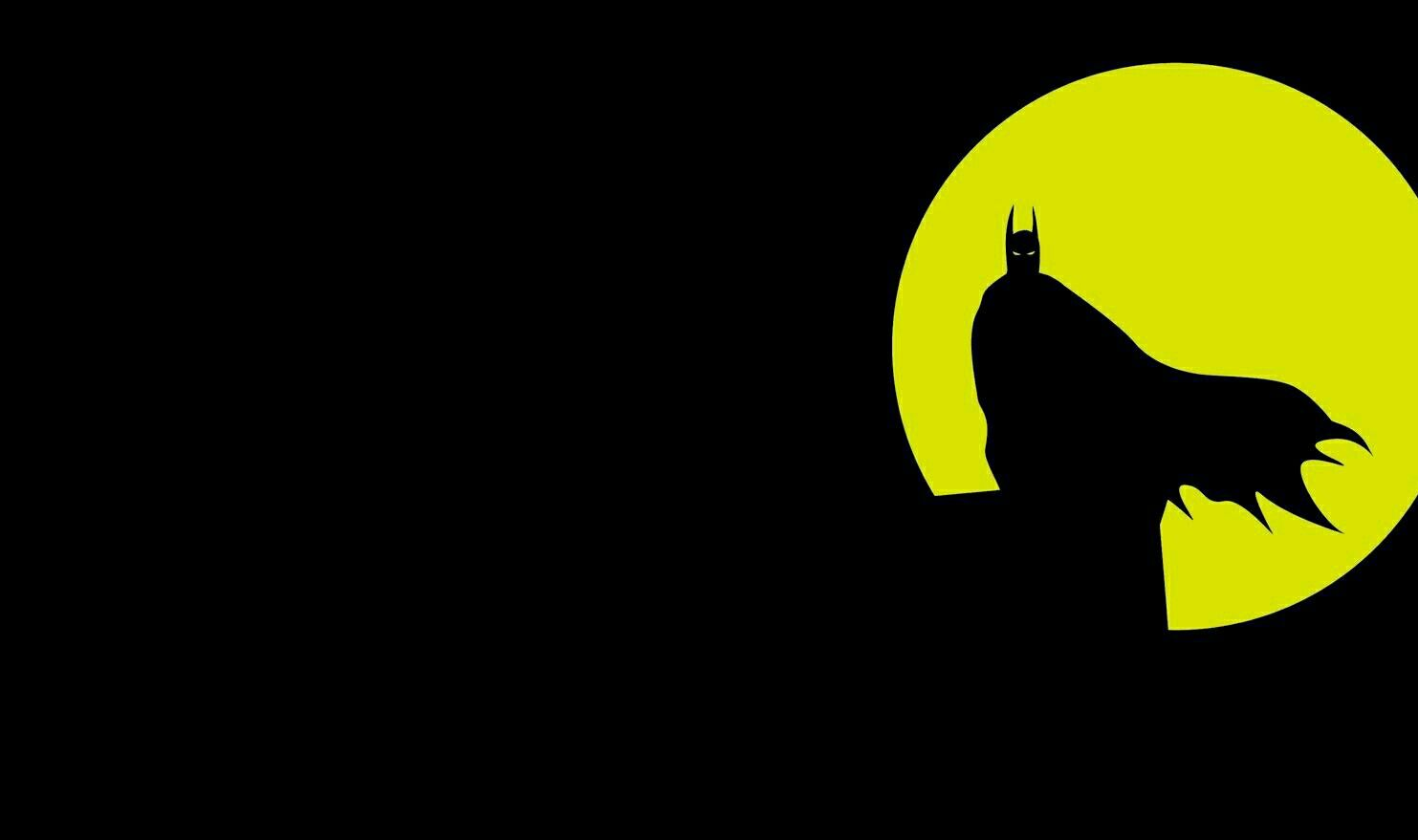 Black Yellow Wallpaper Batman Fondo