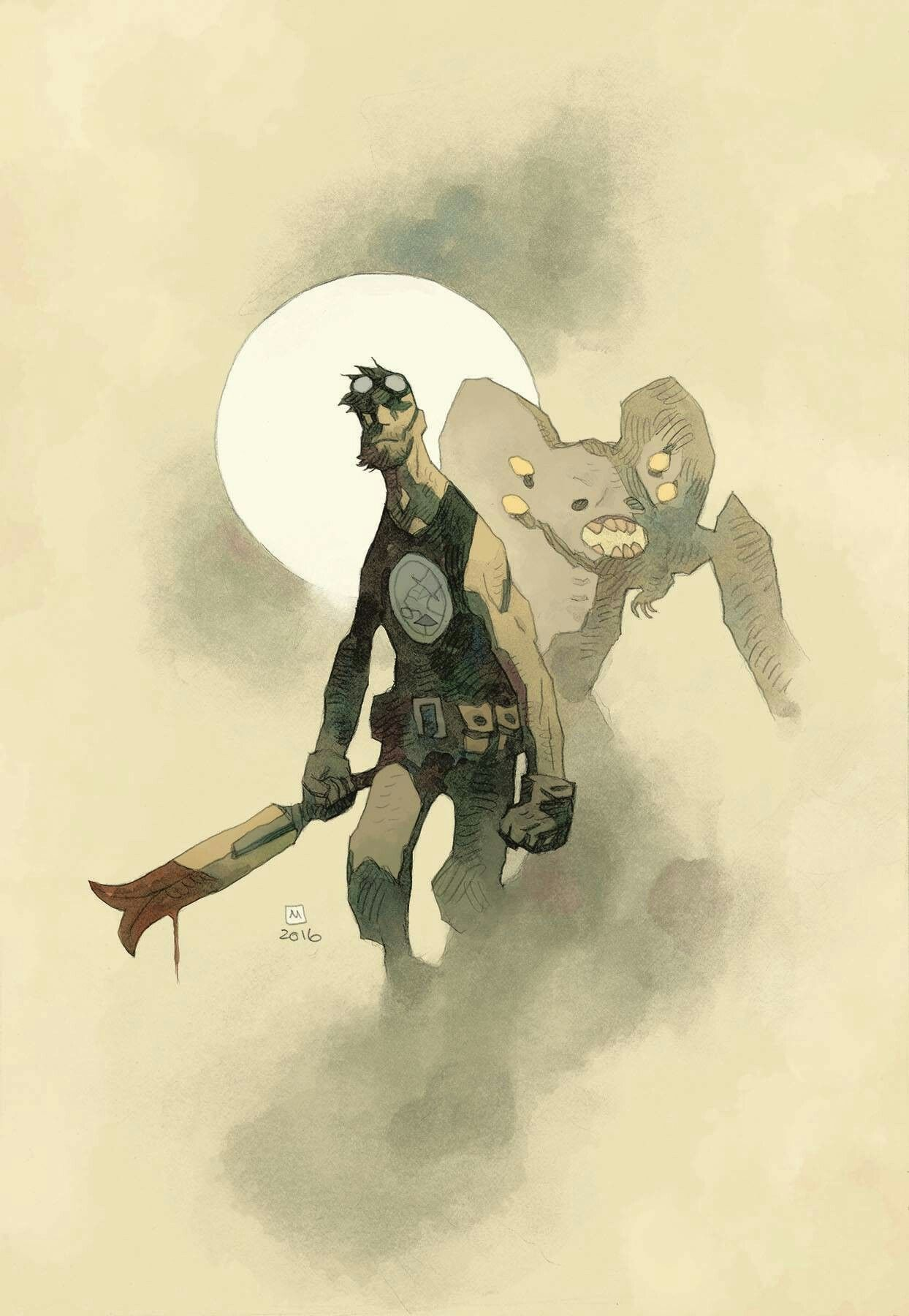 a6885e13a24aa B.P.R.D: THE DEVIL YOU KNOW #1 (MIKE MIGNOLA VARIANT COVER ...