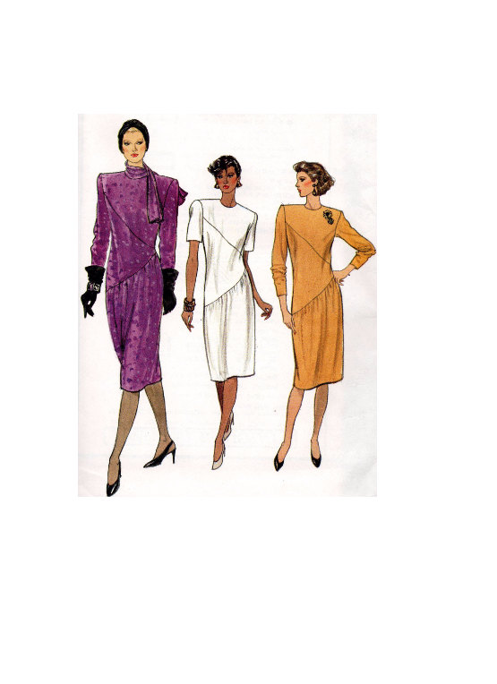 Vogue 9404 Sewing Pattern New Wave Style 80s Asymmetrical
