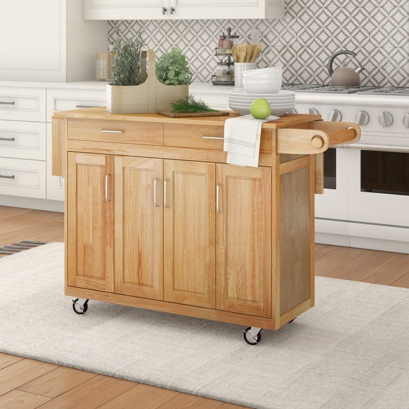 Epping Kitchen Island With Wood Top Kitchen Cart Kitchen Furniture Kitchen Dining Furniture