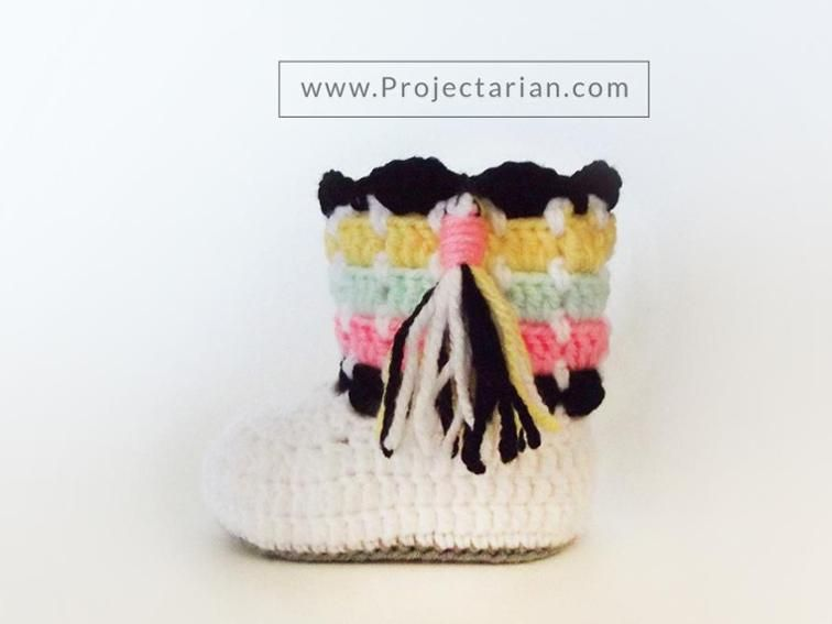 FREE PATTERN: Southwestern Booties | Craftsy | Baby Boots Crocheted ...