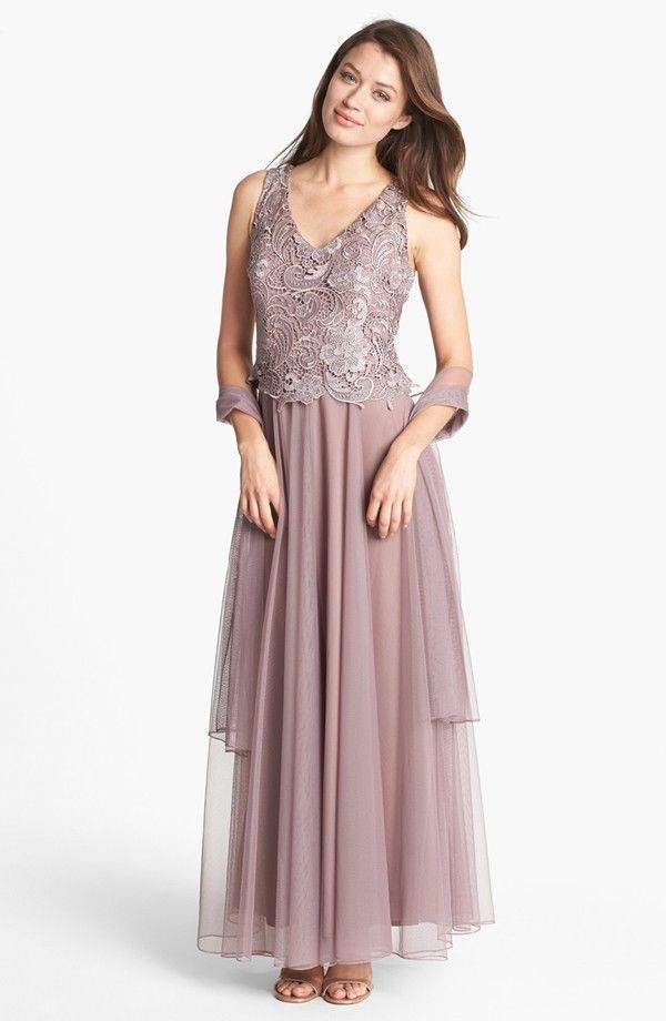 Patra Venice Lace & Chiffon Dress Quart SIZE 10 #232 NWT