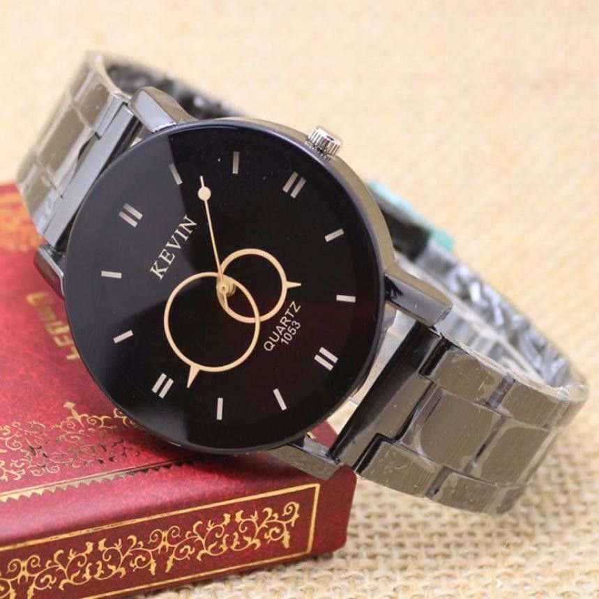 New Arrival Luxury Brand Fashion Stainless Steel Glass Men Watch Quartz Analog Causal Wrist Watches Men