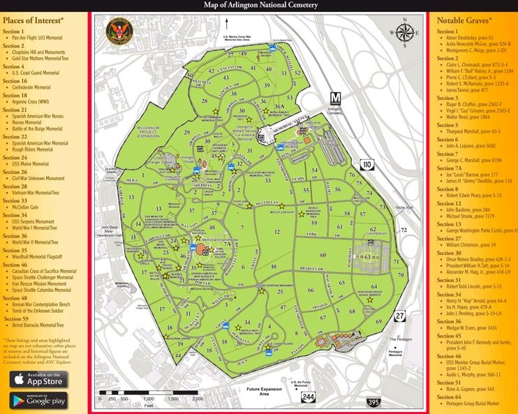 Arlington National Cemetery map Maps Pinterest National