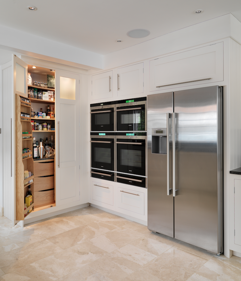 Ikea Kitchen Cabinet Refacing: Our Pantry Larder Alongside A Bank Of Appliance Housings