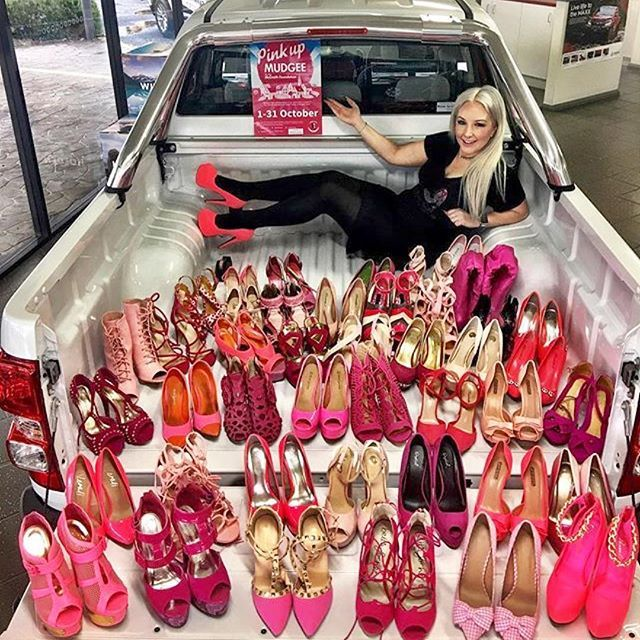 Heels, wheels & charity 💞👍 Please visit @theheelsnwheelsgirl and support her #pinkshoechallenge 💞👠 What a great idea 💞  #Repost @theheelsnwheelsgirl ・・・ As part of #pinkupmudgee I will be working with @ross_granata_motors to raise funds for the @mcgrathfoundation by accepting the #pinkshoechallenge a different pair of pink heels every day for the 31 days in October Follow the link in my bio or head to www.gofundme.com/pinkshoechallenge #theheelsnwheelsgirl #mudgee #holden…