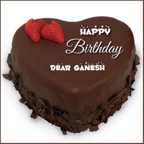 Happy Birthday Chocolate Creamery Heart Cake With Name Birthdays