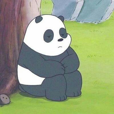 panda tidur lucu kartun