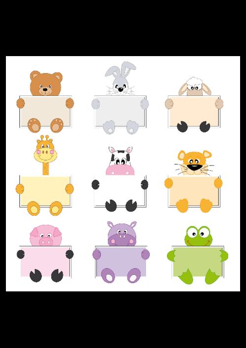 Printable Name Labels Tags Notes Vol 3 Kidspressmagazine Com Cartoon Animals Cute Animal Quotes Cute Cartoon Animals