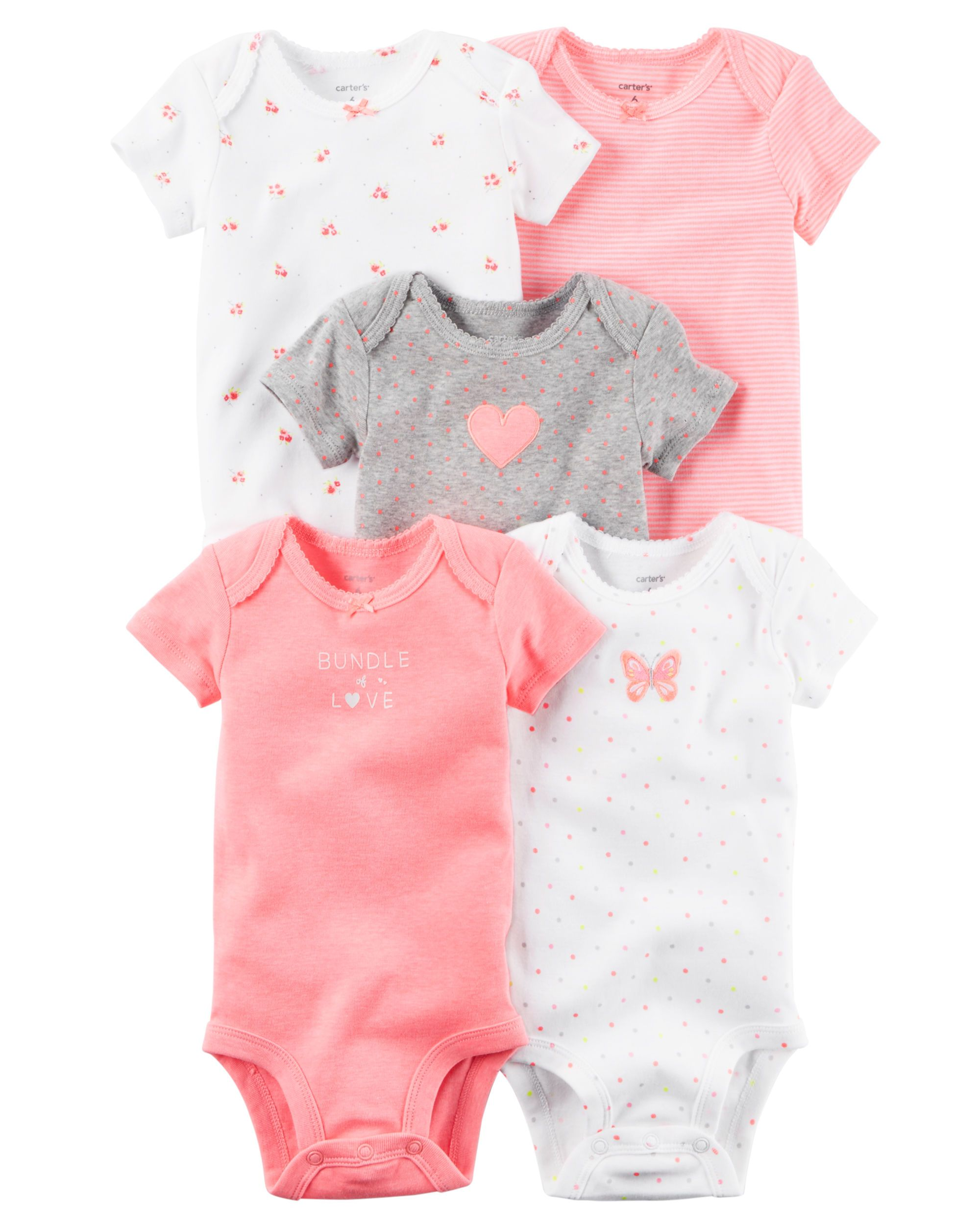 f538b06de 5-Pack Short-Sleeve Bodysuits | Baby | Carters baby clothes, Carters ...