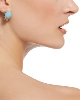Cerulean Faceted Stud Earrings - White House | Black Market