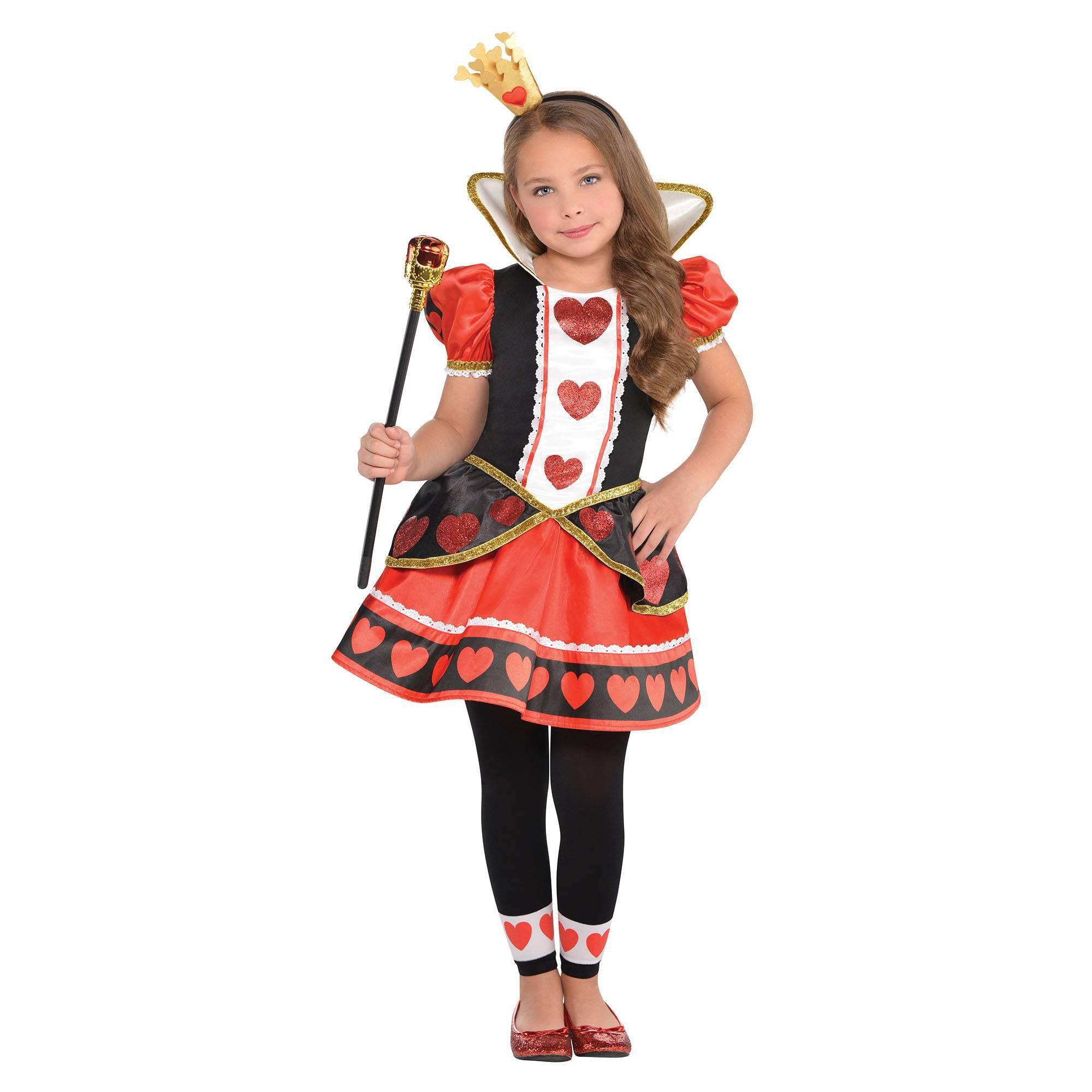 Halloween Girls' Queen Of Hearts Halloween Costume S, Girl