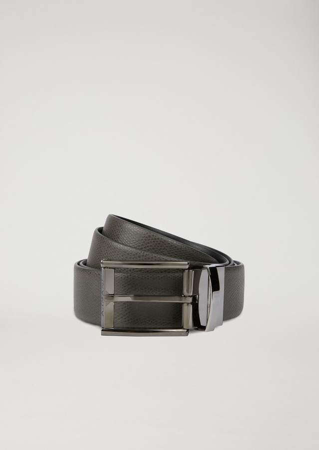 3c583f058109 Emporio Armani Reversible Printed Leather Belt
