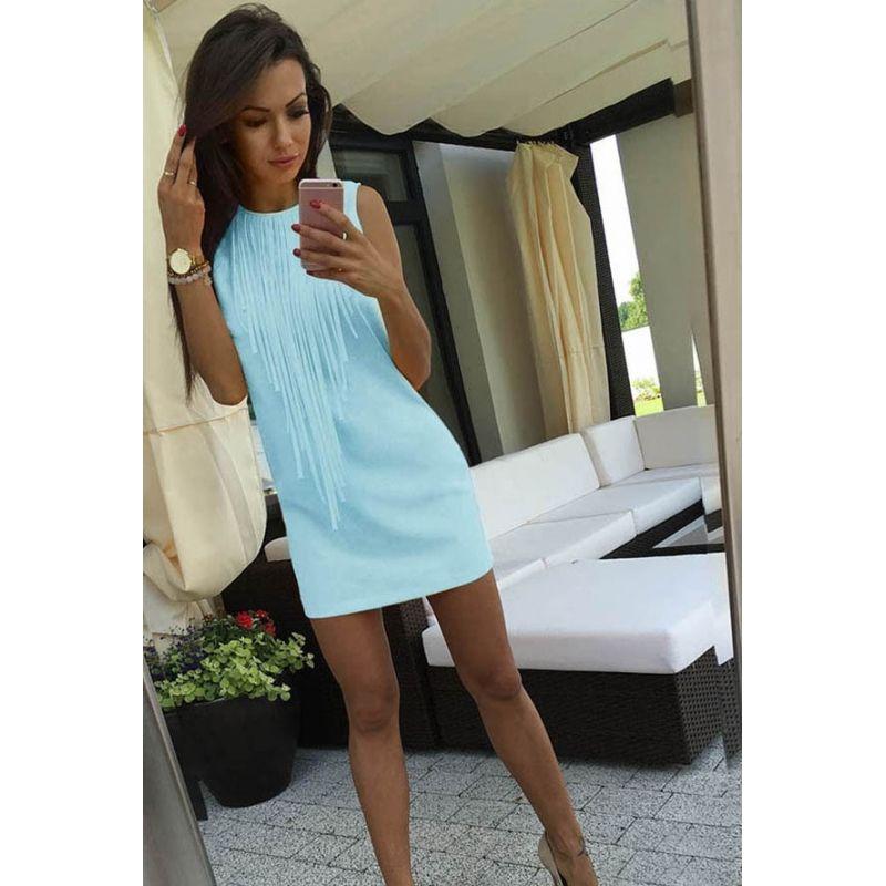 a147b5b0e5 Modna dopasowana sukienka z frędzlami dostępna już dziś w naszym sklepie  internetowym Pakuten.pl Odwiedź nasz sklep i sprawdź najciekawsze produkty  w ...