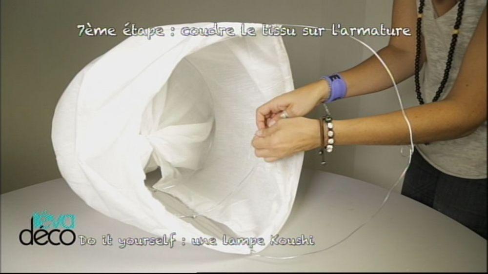 fabriquer une suspension en tissu
