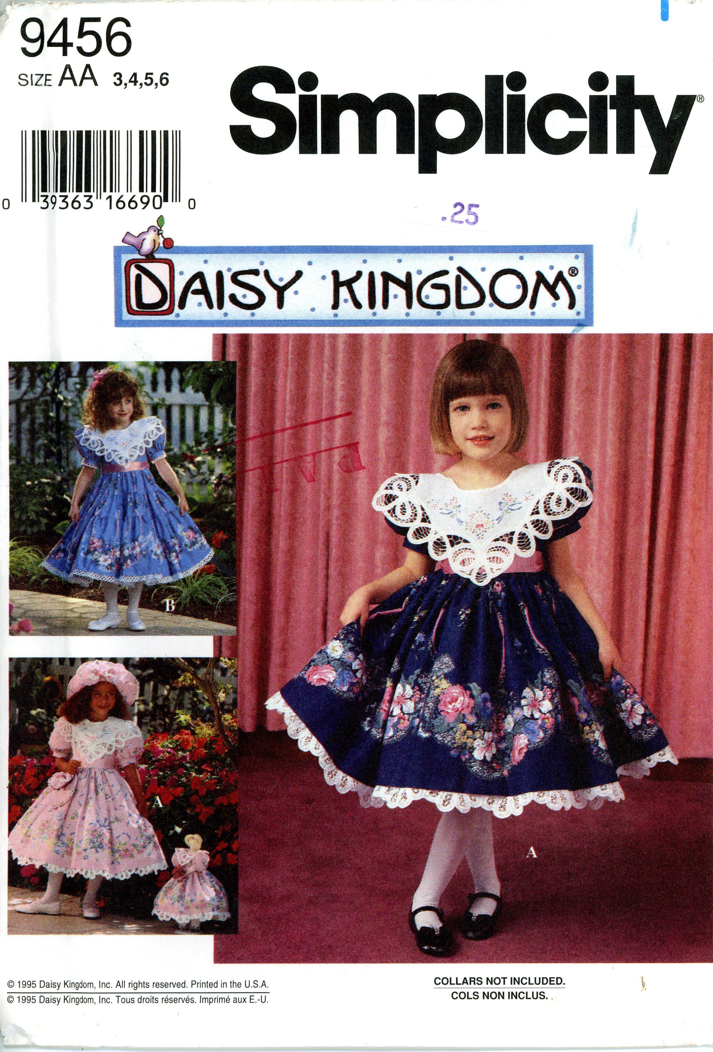 Simplicity 9456 daisy kingdom little girls dress pattern simplicity 9456 daisy kingdom little girls dress pattern jeuxipadfo Choice Image
