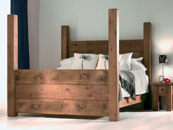 Four Poster Bed Wood Bed Frame Wooden Bed Frames Diy Bed