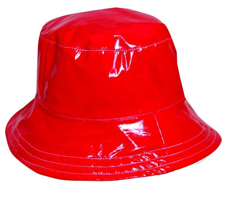 09b3b8d49 Dorfman Pacific Women's Reversible Solid/Polka Dot Bucket Rain Hat ...