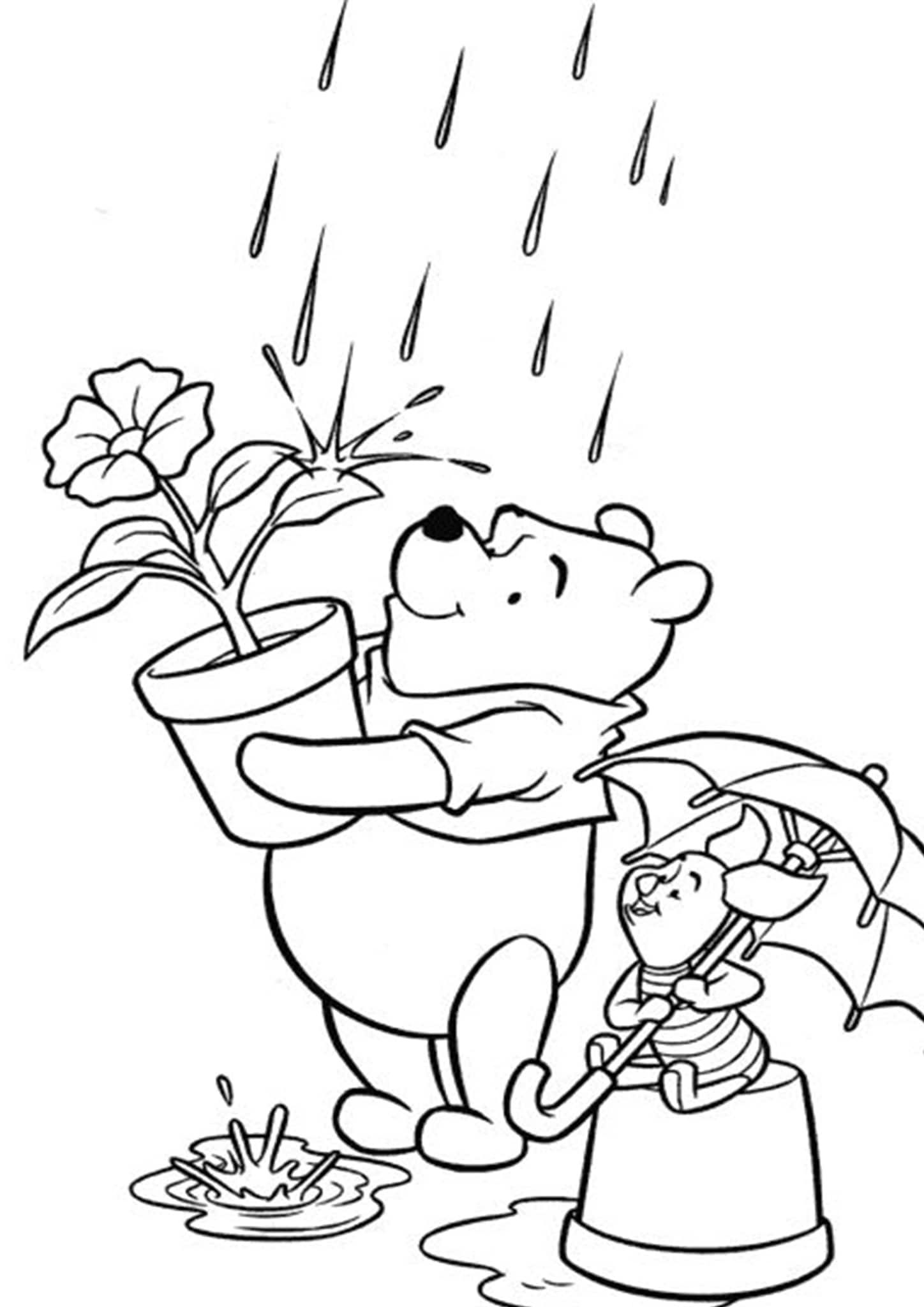 Free Easy To Print Winnie The Pooh Coloring Pages Cartoon Coloring Pages Disney Coloring Sheets Disney Coloring Pages