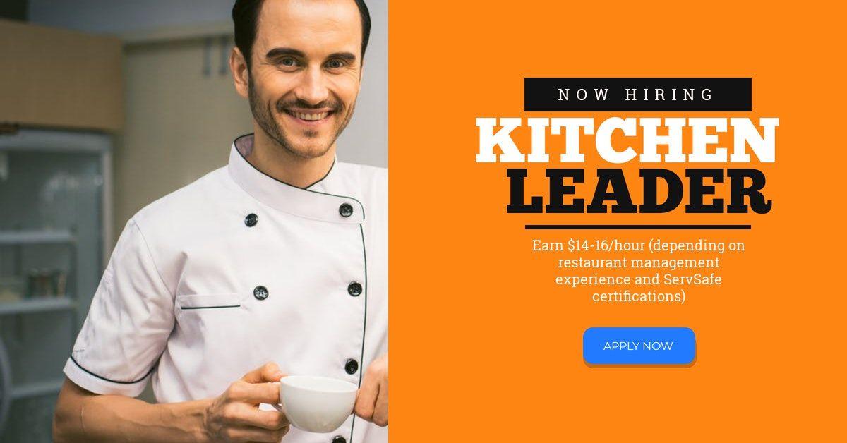 KITCHEN LEADER Restaurants & Beverage Employment
