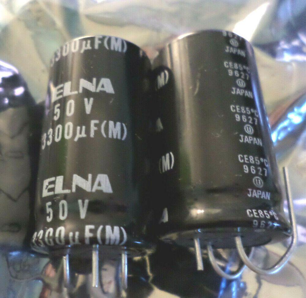 3300uf 50v 3 Lead Electrolytic Capacitors Elna Nos 2pieces C9b5 Elna Electrolytic Capacitor Capacitors Electronics Components