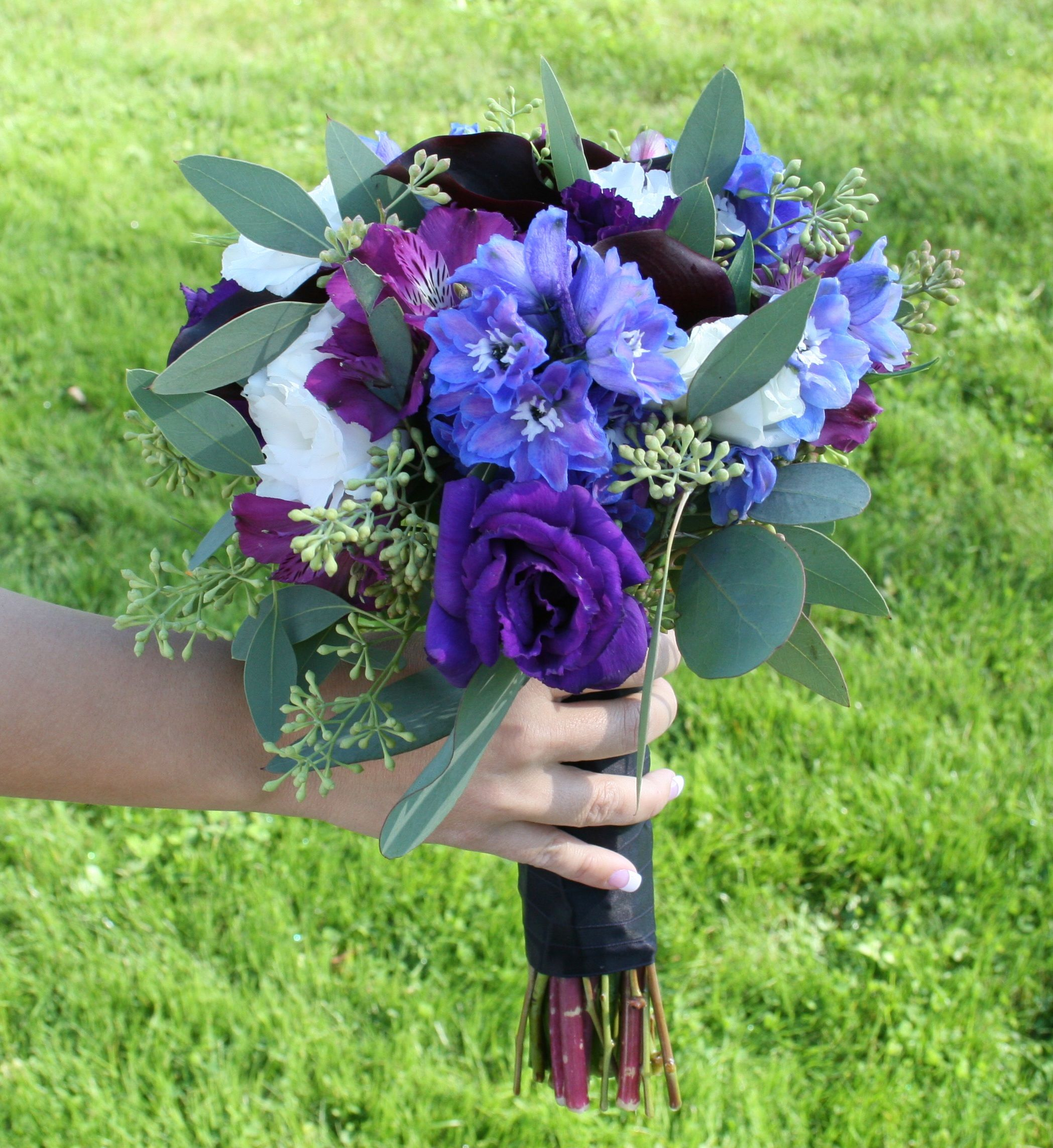 Blue And Purple Wedding Flowers With Erflies Stadium