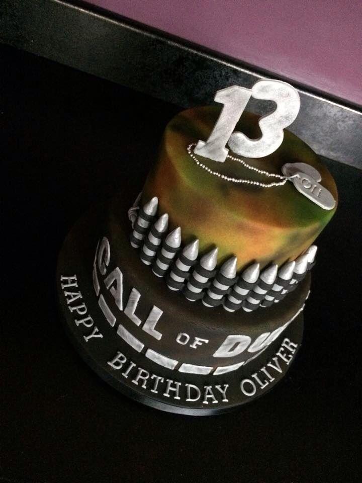 Call Of Duty Cake Teenage Boy Cake Cod Cake I Made