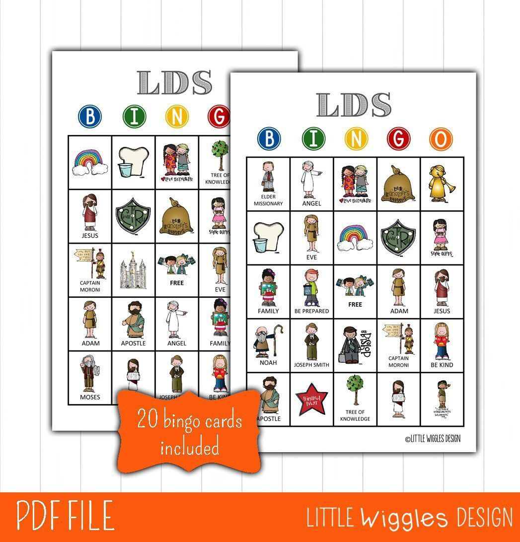 Lds Bingo Game General Conference Activity General