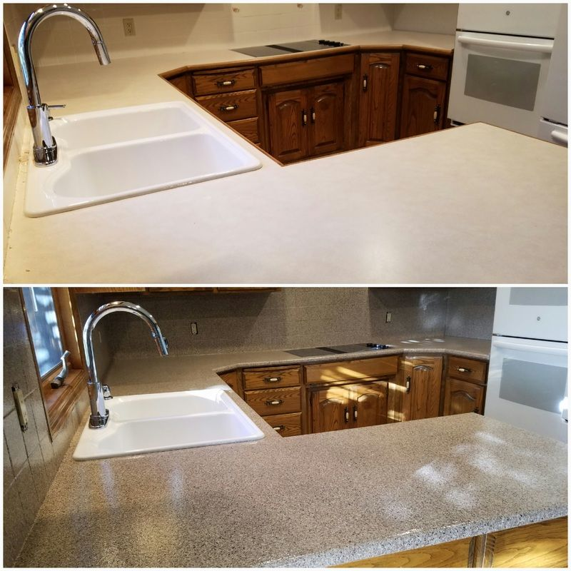 Renew's process for refinishing countertops is a very cost ...