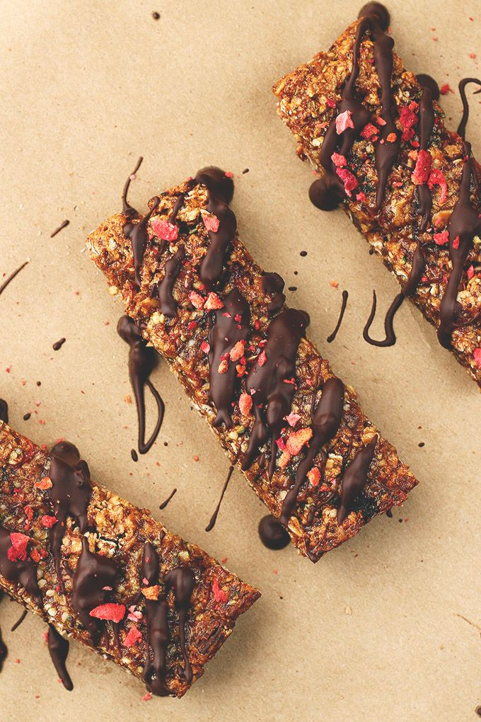 Easy Vegan Chocolate Granola Bars - ilovevegan.com