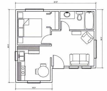 Can Do Micro House Plans Tiny House Floor Plans Tiny House Plans