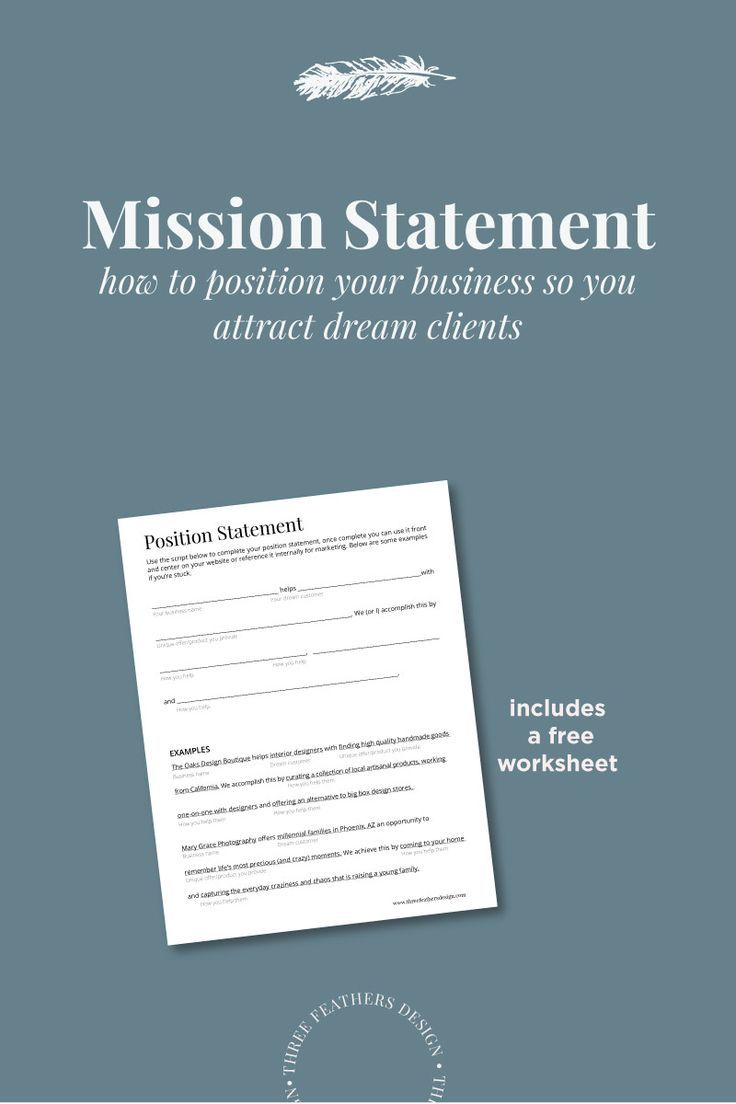 A Mission Statement is a summery of what your business