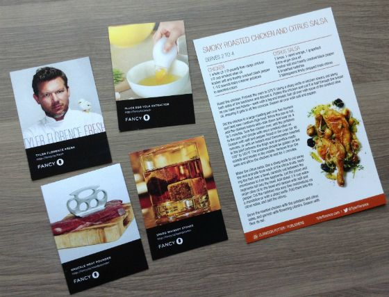 Tyler Florence Fancy Box Subscription Review - April 2013 Fancybox