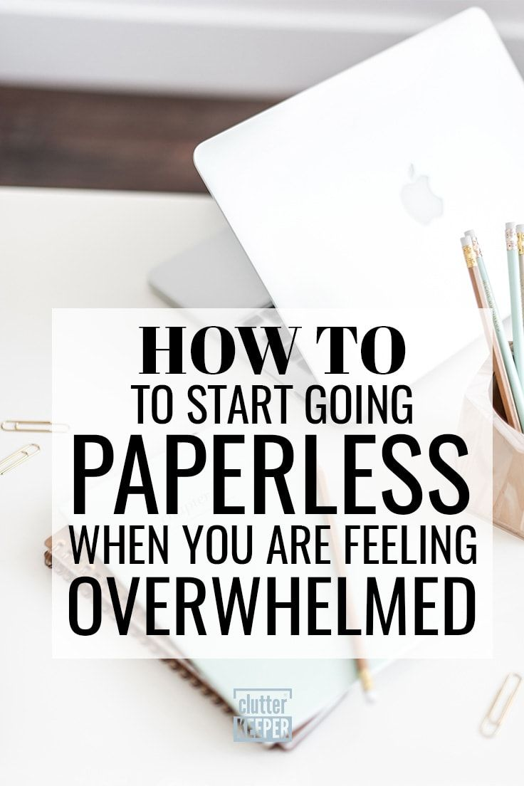 How to Go Paperless Your Complete Guide   Clutter Keeper is part of Home office organization - Going paperless can help you organize your home and reduce your impact on the environment  In this guide, you'll learn how to go paperless at home and work!