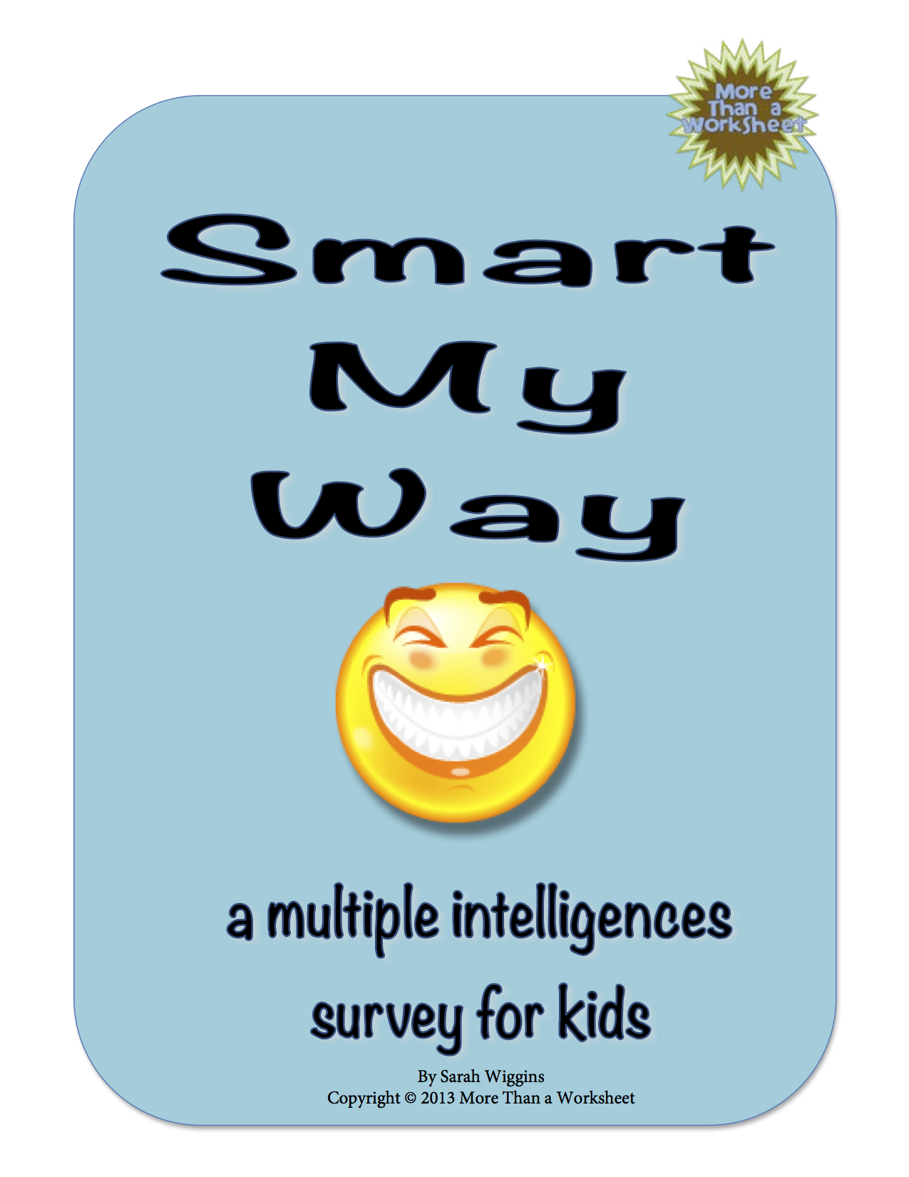 Kid Friendly Multiple Intelligences Survey Smart My Way