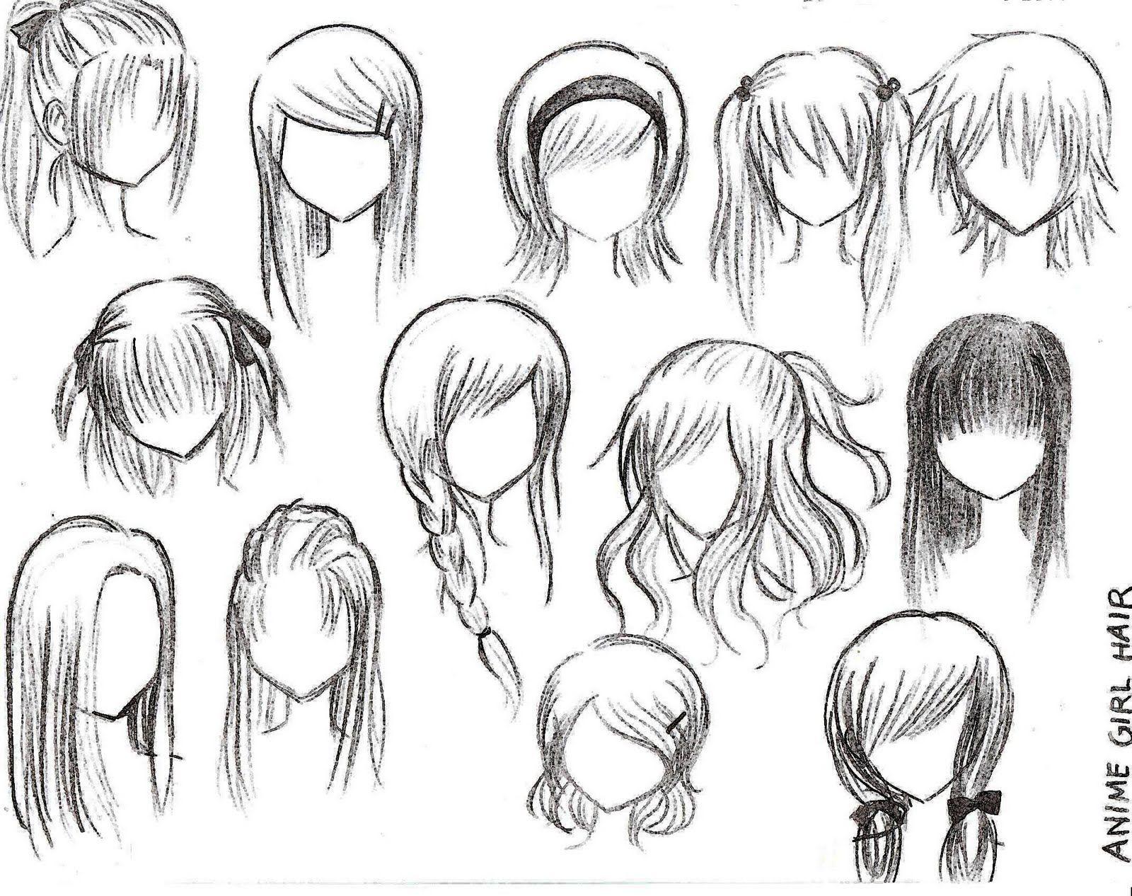 Imagenes de peinados anime para dibujar