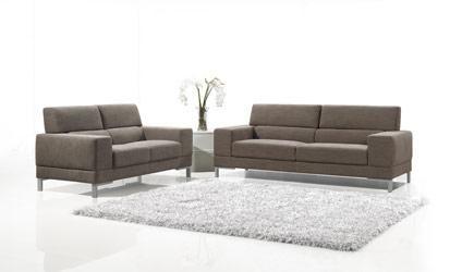 Brown Fabric 3 Pc Modern Sofa Set Living Room SetsFort Worth