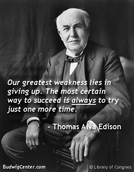 Thomas Edison Quotes on Pinterest | Smart People Quotes ...  Thomas Edison Q...