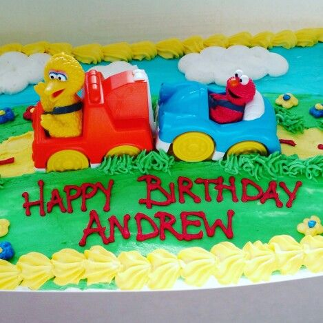 Adorable Elmo And Big Bird Birthday Cake From Publix Elmo Birthday Party Sesame Street Birthda Elmo Birthday Party Sesame Street Birthday Party Elmo Birthday