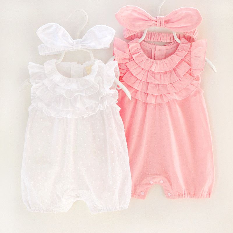 e3d713dee Princess Baby Rompers Summer Lace Girl One-piece Clothes Rabbits ...