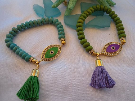 SALE  BOHEMIAN EVIL Eye Bracelet  Ethnic Amulet by Nezihe1 on Etsy, $15.99