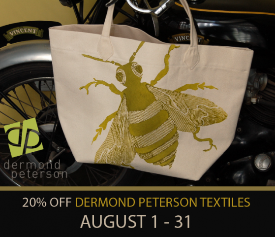 Design News from WPA Chicago: Dermond Peterson Textile Sale - Aug 1-31