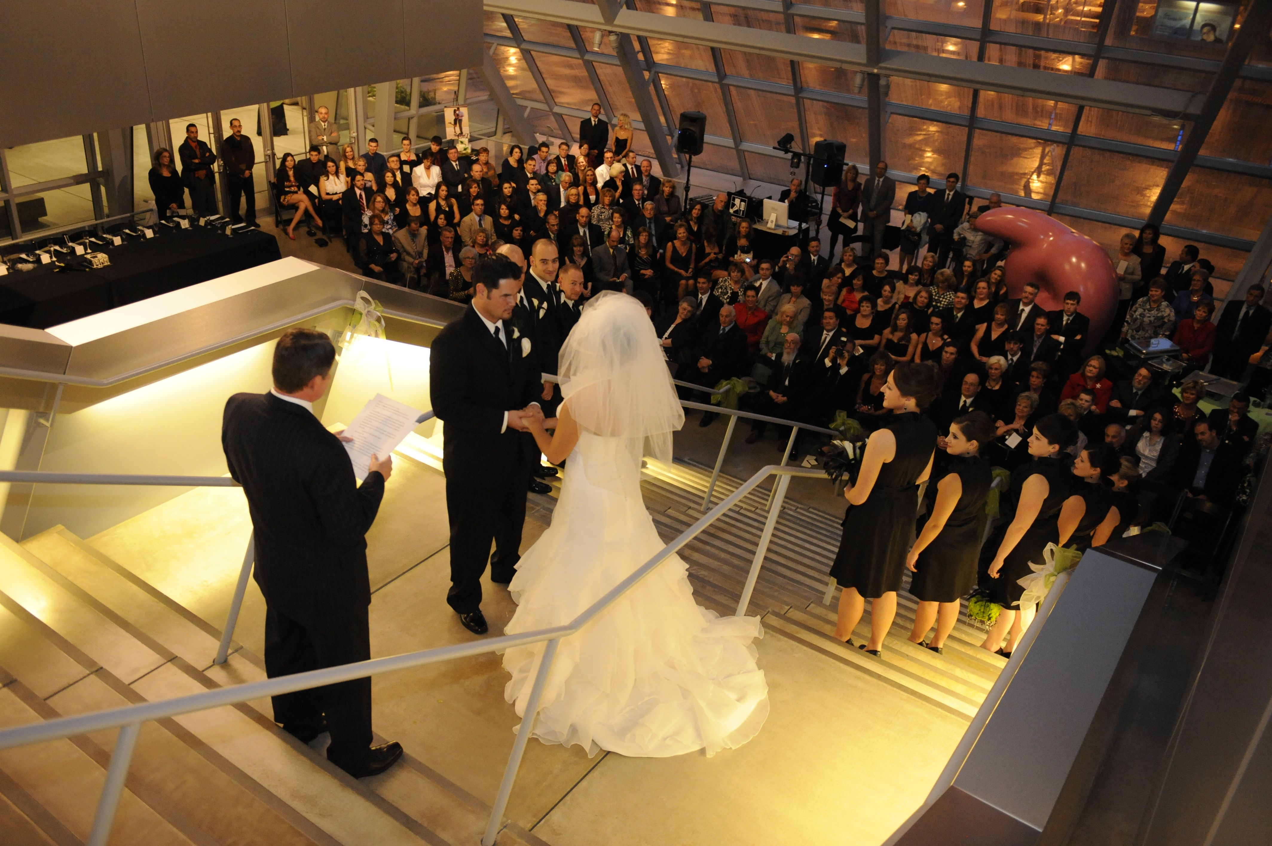 Wedding Taking Place At The Akron Art Museum Oh