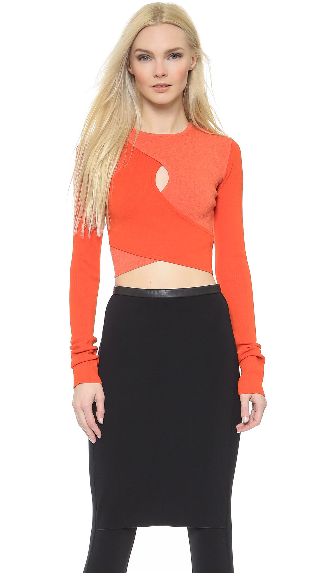 Line II Dion Lee Milano Shadow Block Crop Top