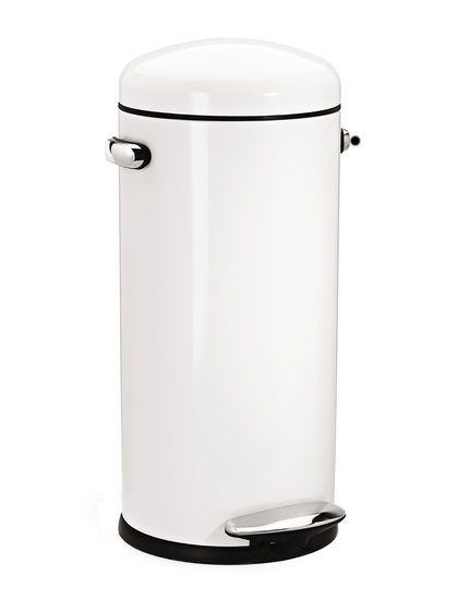30l Retro Step Can White With Bonus 60 Pack Liners By Simplehuman At Gilt Modern Kitchen Trash Cans Kitchen Trash Cans Canning