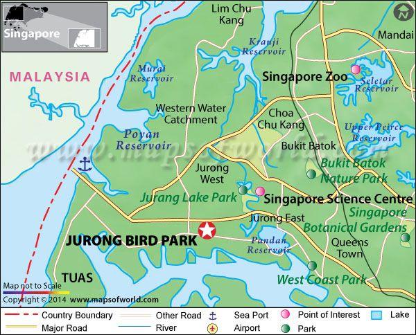 Jurong Bird Park Singapore Map Facts Tickets Hours Singapore Map Park Travel Maps