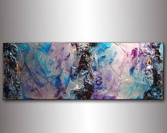 ❘❘❙❙❚❚ EN SOLDE ❚❚❙❙❘❘  Original contemporain riche texture moderne métallisé or arbre branche peinture abstraite par Henry Parsinia 48 x 18  TITRE : RECHERCHE DE L'ÂME TAILLE: 48 X 18 « X 1,58 »  (FINITION À HAUTE BRILLANCE, TEXTURE RICHE, MÉTALLIQUE)  « EN RAISON DE LA NATURE RÉFLÉCHISSANTE DU MÉTALLISÉ CET ART SERA PLUS DRAMATIQUE AVEC UN BON ÉCLAIRAGE »  Cette peinture moderne abstraite a été peinte sur toile sans acide Galerie enveloppé. Uniquement des matériaux de qualité fine art ont…