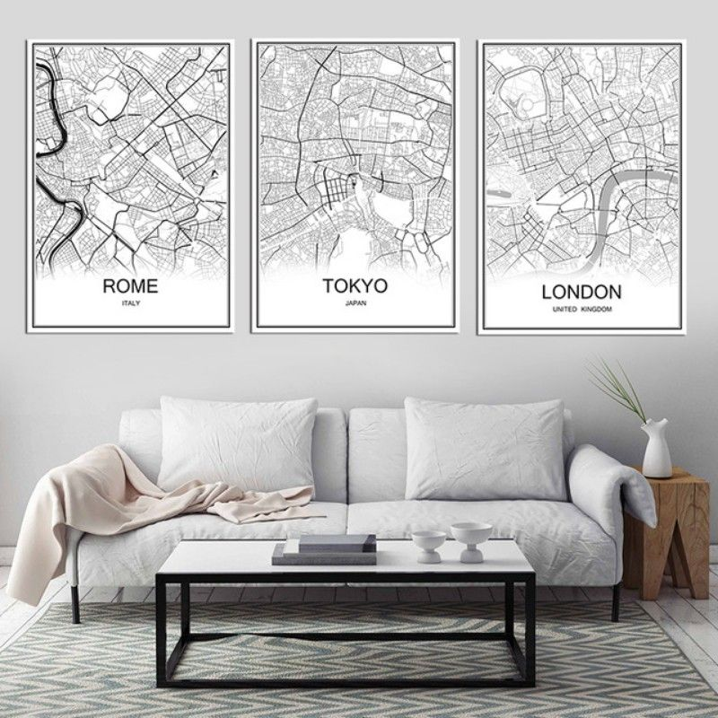 Pin By Robert Geering On Home Decor Wall Decor Living Room Vintage Living Room City Living Room #vintage #living #room #wall #decor